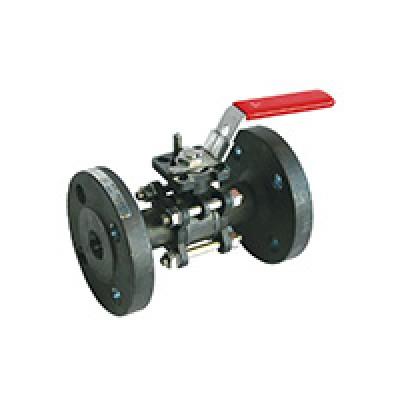 Шаровой кран полнопроходной из 3 частей фланцевый стальной BS5260