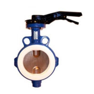 Межфланцевый дисковый поворотный затвор VP4449-02PTFE